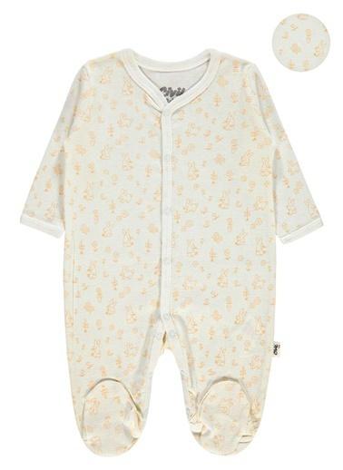 Civil Baby  Kız Bebek Patikli Tulum 3-6 Ay Kahverengi  Kız Bebek Patikli Tulum 3-6 Ay Kahverengi Kahve